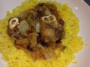 Баранина с рисом и луком