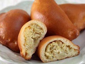 Пирожки печеные с картофелем или капустой