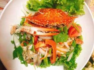 Салат с голубым крабом